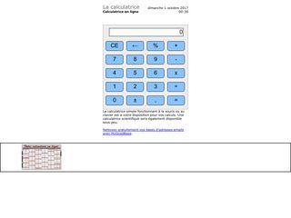 Clavier ou souris, la calculette facile